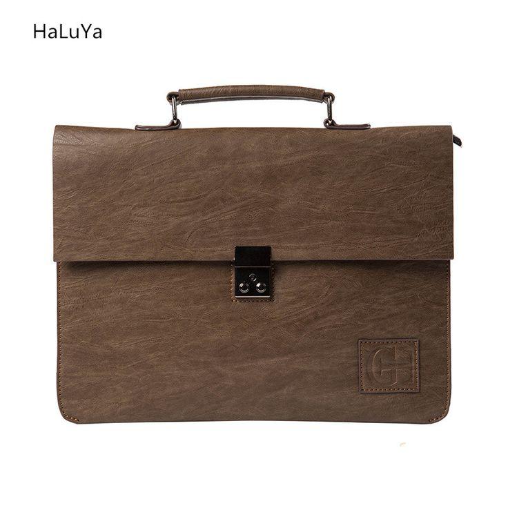 2 Color Hot Sale Retro Promotion Famous Brand Business Men Briefcase Bag Luxury Leather Laptop Bag Men's Bag bolsa maleta 2017 #RetroMens