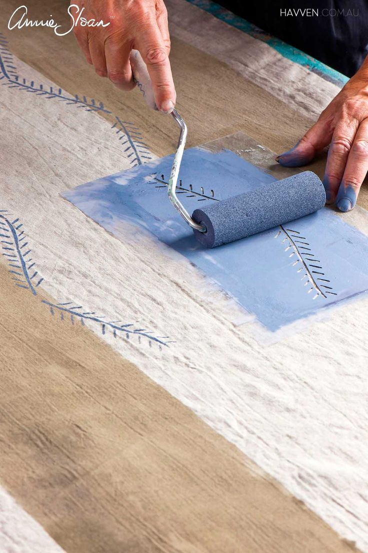 How To Dye And Stencil Curtains Using Chalk Paint By Annie