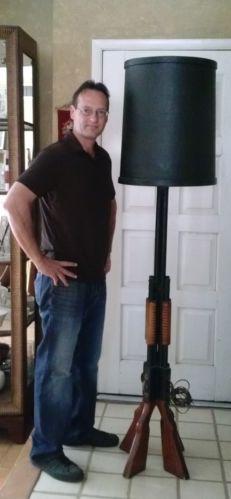 Vintage Mid Century Shotgun Gun Rifle Floor Lamp Ebay
