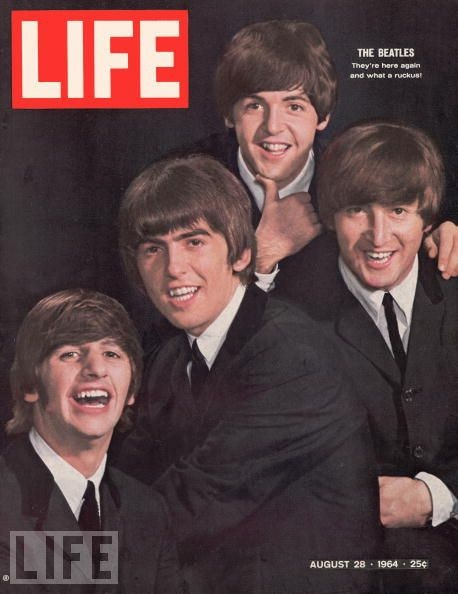 1964- I remember watching the Beatles the night they were on Ed Sullivan for the first time.  The next day in gym class, sitting in our little lines, all the girls discussing who their favorite Beatle was.