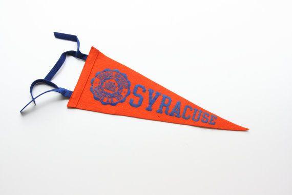 Vintage Syracuse Pennant  Syracuse College by TheMixingBowlOnline
