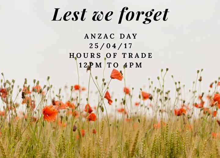 opening hours anzac day - photo #22
