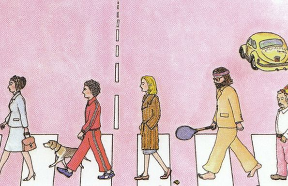The Royal Tenenbaums illustration by Wes Anderson's brother, Chase Anderson