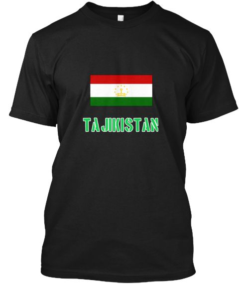 Tajikistan Flag Stencil Green Design Black T-Shirt Front - This is the perfect gift for someone who loves Tajikistan. Thank you for visiting my page (Related terms: I Heart Tajikistan,Tajikistan,Tajik,Tajikistan Travel,I Love My Country,Tajikistan Flag, Tajikistan  #Tajikistan, #Tajikistanshirts...)