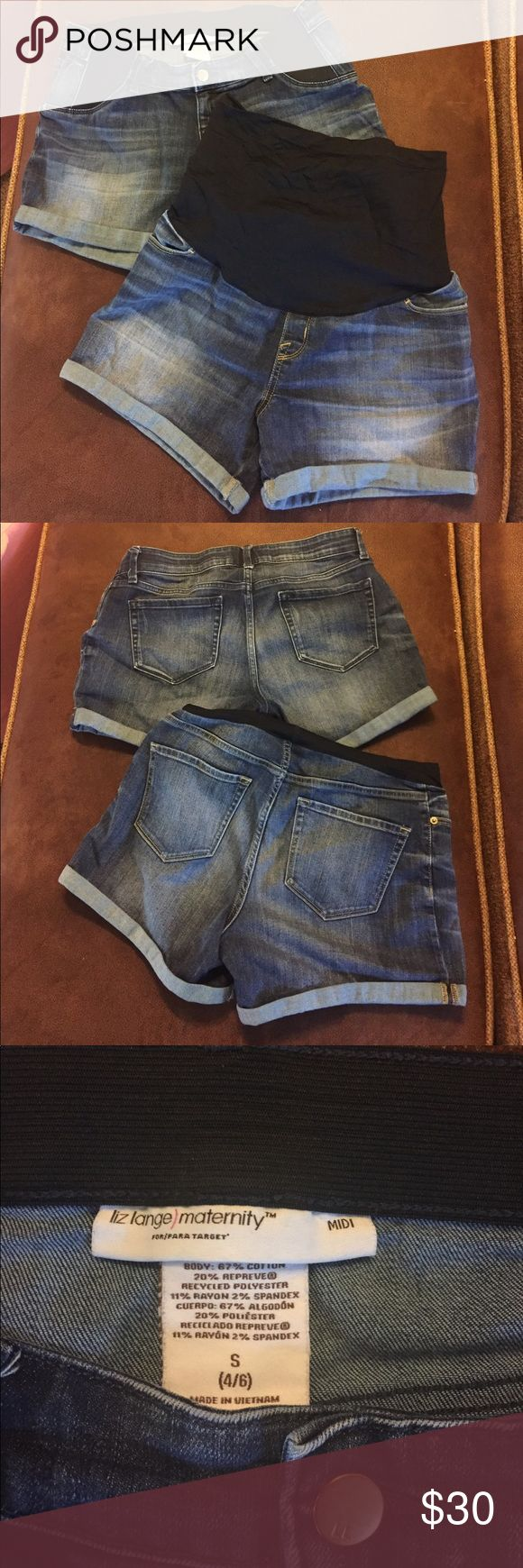 Maternity Shorts Bundle Liz Lange maternity shorts. Great condition. MIDI shorts. Both size small (4/6). Liz Lange Shorts Jean Shorts