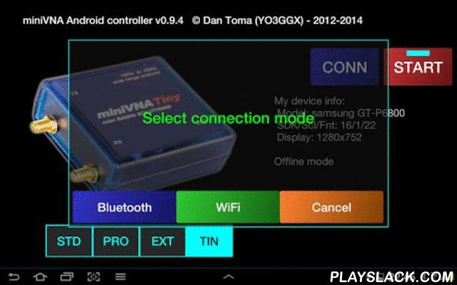 Blue VNA  Android App - playslack.com , This application can be used to fully control a miniVNA Vector Network Analyzer. Is still in beta so your feedback is essential to make it better. Current version has the following features:- fully control the data acquisition from a miniVNA, with or without the Extender;- work over USB, bluetooth or WiFi (if available);- support for all Smartphones and Tablets with a resolution higher than 320x240, based on Android version 2.2 or higher;- can display…
