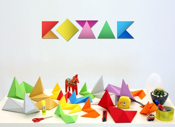 crazy paper sculpture type.