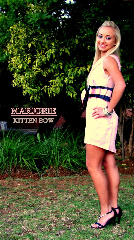 Kitten Bow Dress, Designed by Rolindie van Druten - N Designs. Pink and Black dress