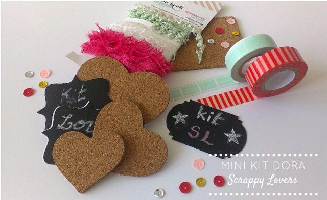 "Scrappy Lovers: Mini Kit ""Dora"" para Scrapbooking e/ou Cardmaking"