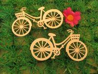 10 pz/set brand new bicicletta die legno compensato di taglio template diy mestieri artigianato artigianato in legno accessori 88mm * 48mm