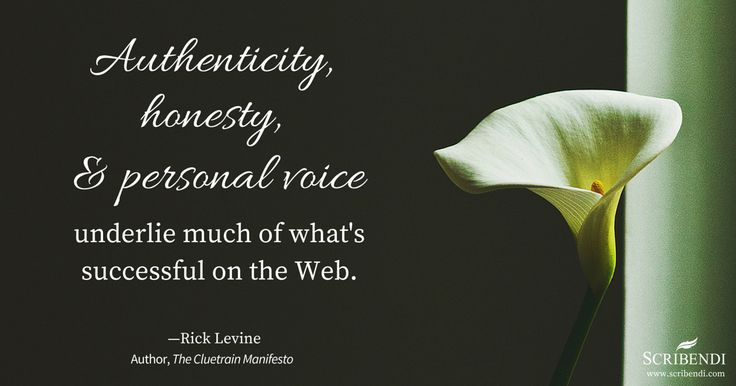 """""""Authenticity, honesty, and personal voice underlie much of what's successful on the Web."""""""