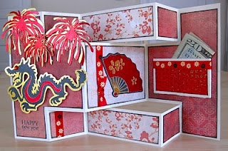 Tri-Fold Shutter Card for Chinese New Year -- Love this Idea