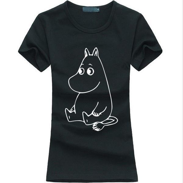New Cartoon MOOMIN Letters Print Women T-shirt Regular price $10.99