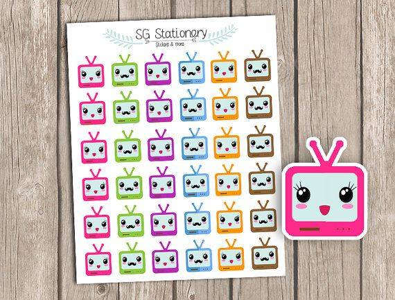 TV Planner Stickers TV Show Planner Stickers Erin by SGStationery