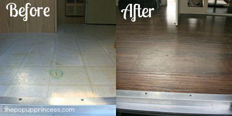 Pop Up Camper Remodel Flooring