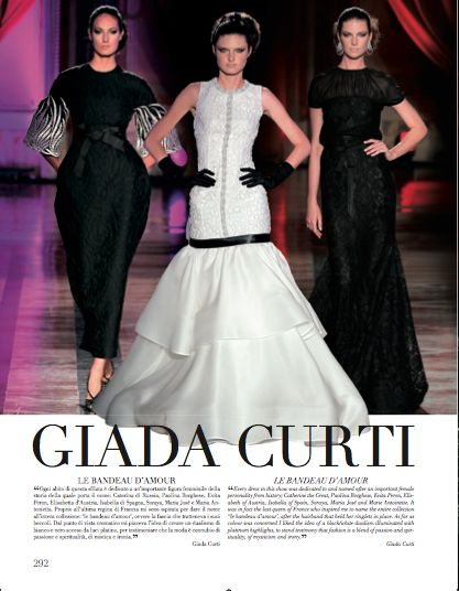 Focus on Giada Curti in Rome chapter. #GiadaCurti #HauteCouture #catwalks #fashion #woman #style #clothes #dress #look