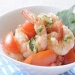海老のサルサソースサラダ