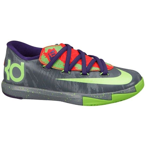 Nike KD VI Boys' Preschool ($68) ❤ liked on Polyvore featuring shoes, kd, nike and sneakers