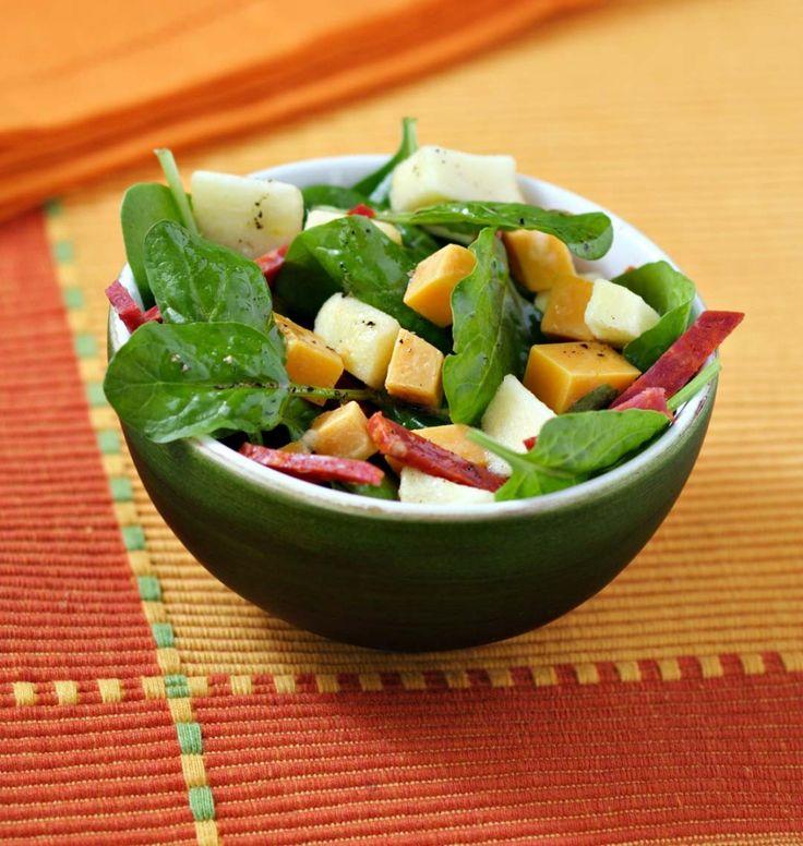 Salade de pousse d'épinard, chorizo et mimolette - les meilleures recettes de…