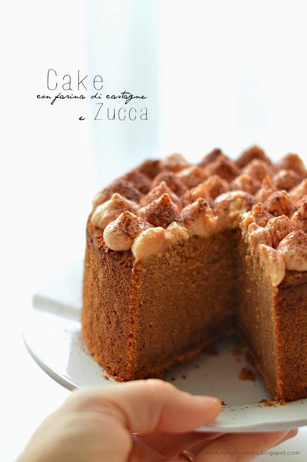 chestnut flour & pumpkin cake, with mascarpone cream