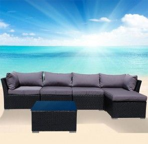 Outdoor Lounge with Chaise and Coffee Table