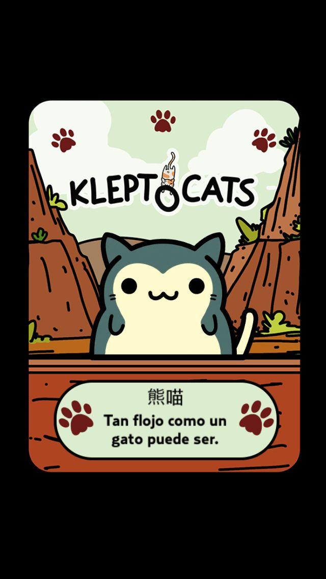 """Aquí está mi nuevo amigo """"熊喵"""" #KleptoCats @HyperBeard #iOS www.kleptocats.com/share"""