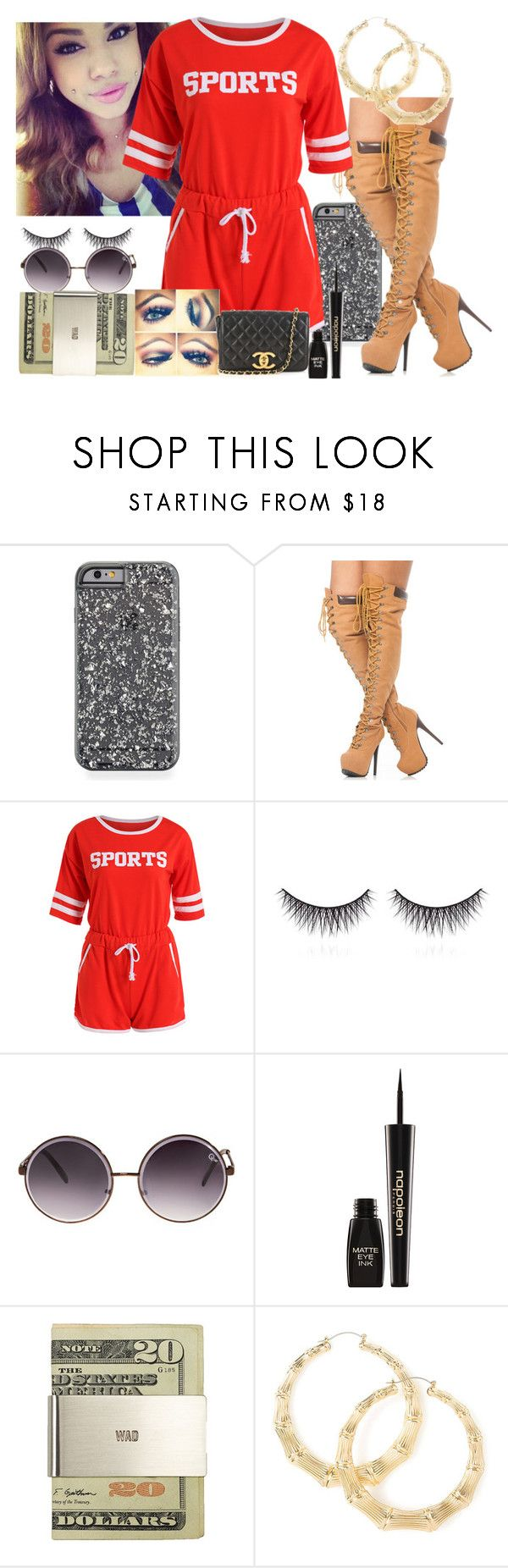 """""""Fashion Olympics"""" by trillest-queen ❤ liked on Polyvore featuring shu uemura, Quay, Napoleon Perdis, Jack Spade and Chanel"""