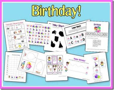 Educational Freebie: Birthday Fun printable preschool pack - Money Saving Mom®