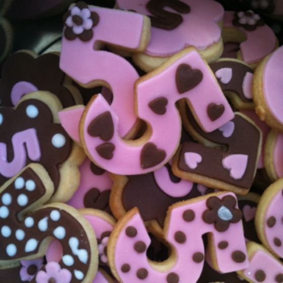 Cookies for my daughters 5th birthday! #cookie