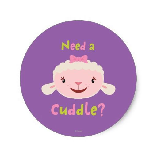 Lambie - Need a Cuddle. Regalos, Gifts. #sticker