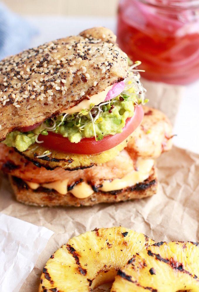Healthy Aloha Chicken Burgers Recipe Healthy Burger Healthy Recipes Easy Chicken Burger Recipe