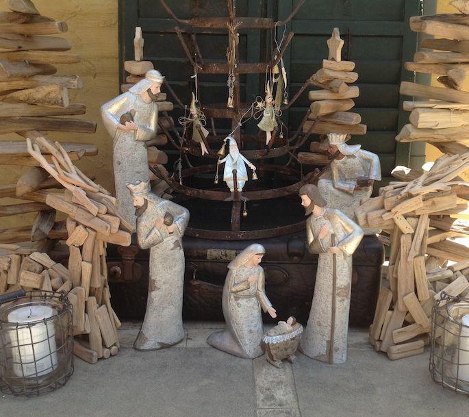 Silver Timber Nativity Set - Objects of Interest