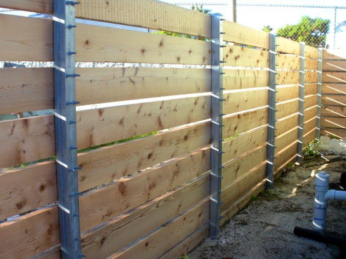 Attractive Project Gallery Sj Fence Co Metal Posts For Wood Lowesn
