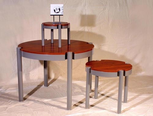 Premium Round Stand Off Display Table