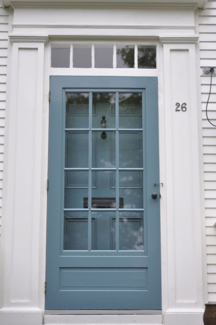 Awesome 50 Painted Exterior Door Ideas with Blue Colors. More at https://trendecor.co/2017/11/17/50-painted-exterior-door-ideas-blue-colors/