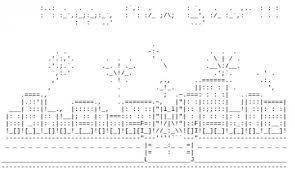 Happy New Year Text Art ascii happy new year