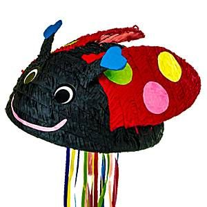 A ladybird pull pinata that would be ideal to bring a bit of extra fun to your party! Fill with lots of sweeties and small toys! A fun party game that your guests are sure to love. 1 pinata supplied. Size 17inch (43cm) x 8.5inch (22cm). #BenAndHollyParty #BenAndHollysLittleKingdom #Pinata #ChildrensPartyGames #BugParty #InsectParty #LadybirdParty #PinataPartyGames