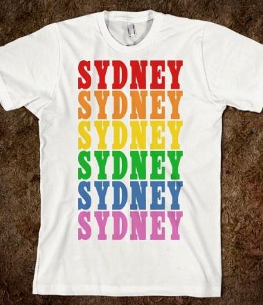 Rainbow Name Sydney T-shirt