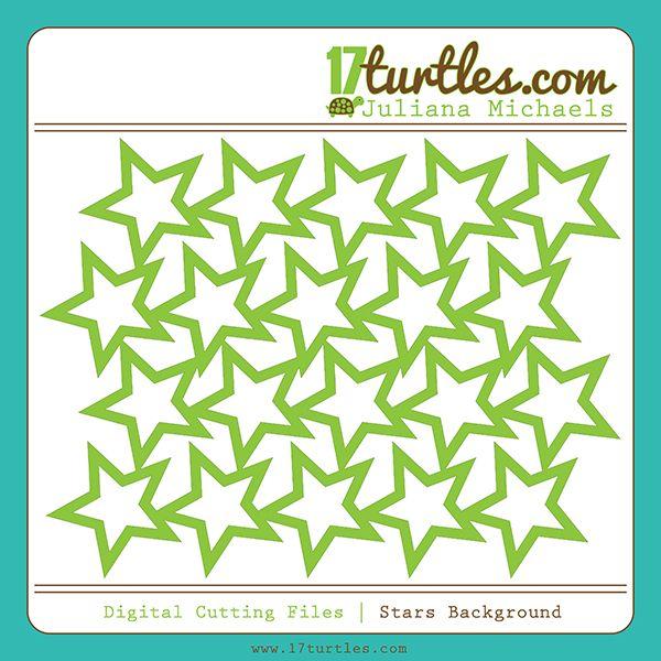 Stars Background Free Digital Cutting File by Juliana Michaels