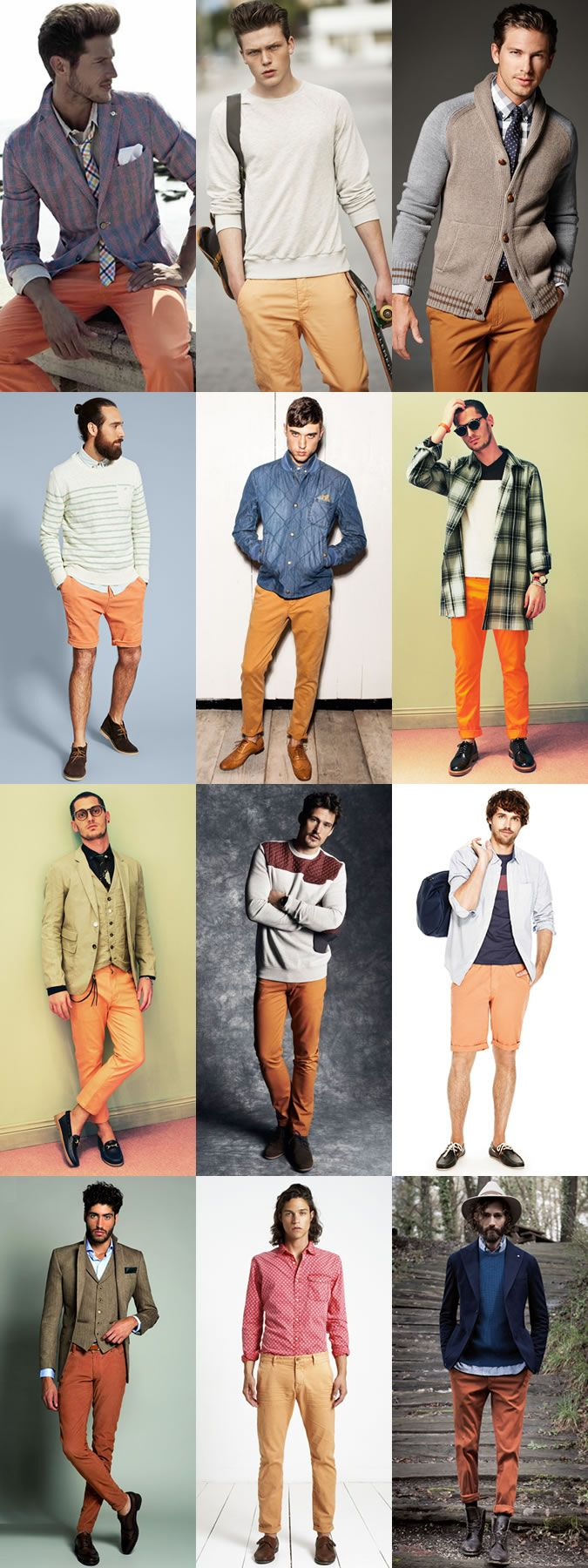 Wearing 2014 Autumn/Winter's Big Colour Trend Now: Orange in Legwear Lookbook Inspiration