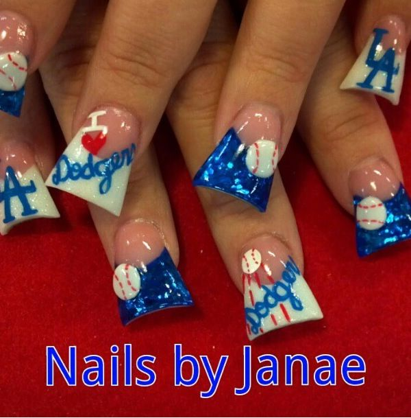 Awesome Dodger nails!