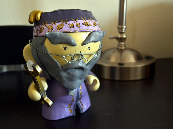 I rang in 2012 with a Munny Doll + Harry Potter + night light project. Here's a brief writeup of how everything went down.