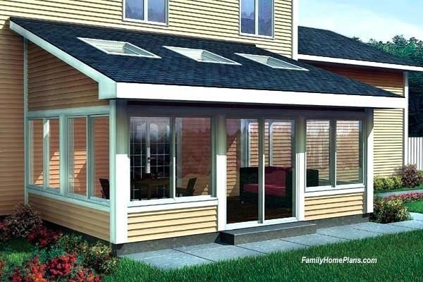 Average Cost To Build A Sunroom Plan For Two Story Home How