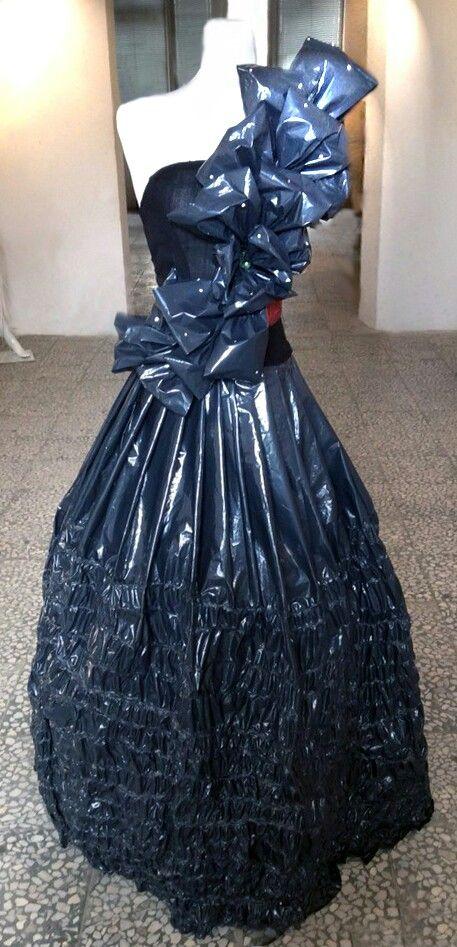 garbage bag dress by Sahar Ghasemi-F.Shahkoopah's students