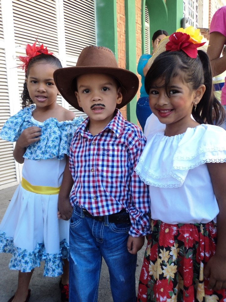 national dress, usually worn for show and parties etc now. The children are  adorable. Venezuela
