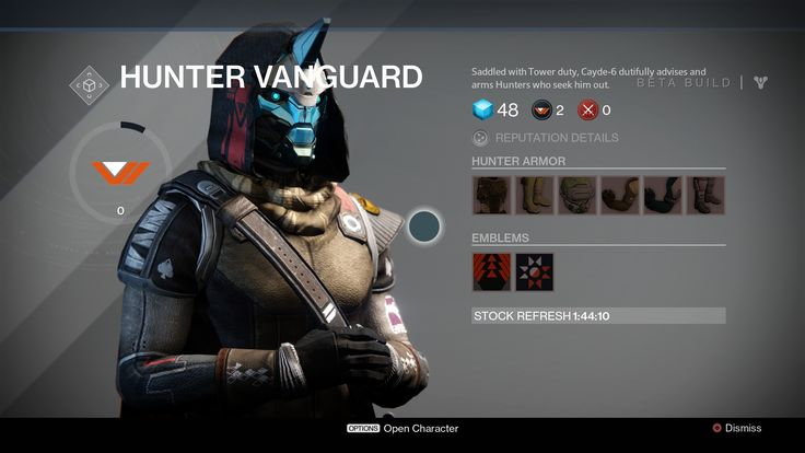 High above The City, in the Hall of Guardians, The Vanguard keep watch over Guardians in the wild, arming the best warriors with the upgraded weapons they... #destiny