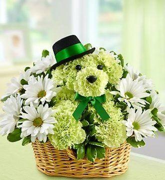 st. patricks day floral arrangements | ... Puppy Dog St. Patrick's Day Flower ... | Cre8ive St Patrick's D