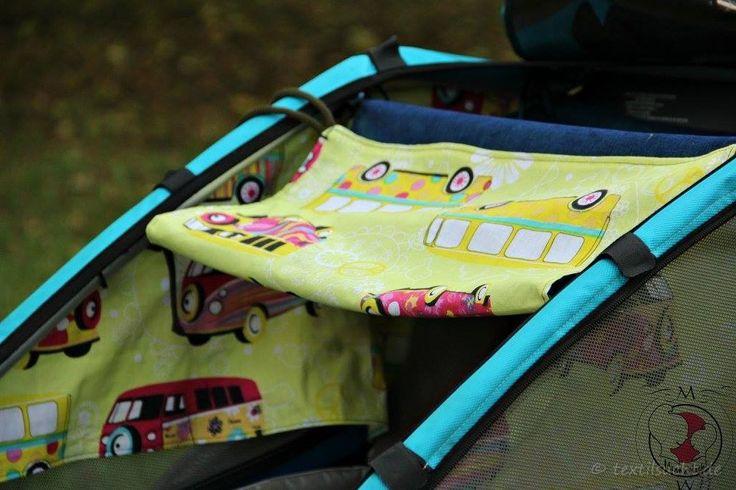 Schnittmuster und Schritt für Schritt Nähanleitung für ein Sonnenschutzset für Fahrradanhänger Croozer oder Chariot/Thule zum Sofortdownload