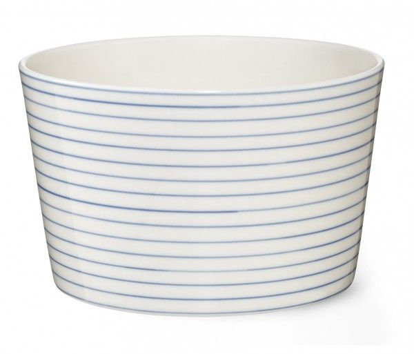 Stripes Bowl medium narrow blue line sr450b - Stripes Bowl medium narrow blue line - collections