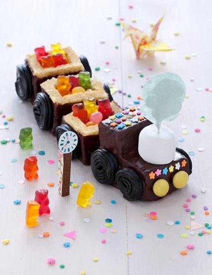 Una idea monísima para celebrar los primeros cumpleaños || Ositos en un tren de chocolate
